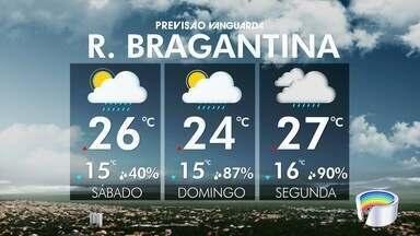 Confira a previsão do tempo para o feriado - O sábado será de sol entre nuvens, com possibilidade de chuva no final do dia