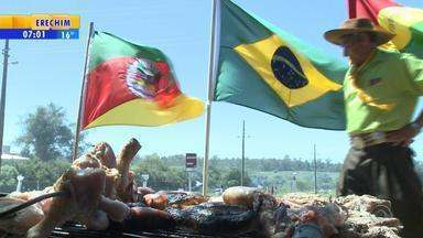 Bagé tem mais uma edição da tradicional Festa do Churrasco - Supermercados da região registram crescimento na venda de carne.