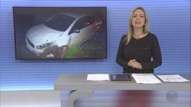 Casa é alvo de assalto no bairro São Luiz em Dumont, SP - Na fuga, suspeitos bateram o carro em uma rodovia. Dois homens conseguiram fugir, mas um foi preso.