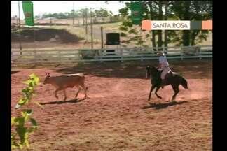 Rodeio no Parque de Exposições em Santa Rosa, RS - Amantes do laço aproveitaram o fim de semana na competição.