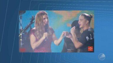 Festival: Ivete e Safadão falam da admiração mútua em show no Rio de Janeiro - Os artistas fizeram vários elogios um para o outro; confira.
