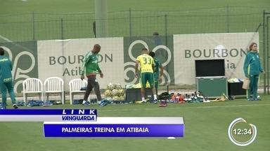 Palmeiras está em Atibaia se preparando para o jogo contra o Botafogo - É um jogo decisivo porque o time pode ser campeão brasileiro.