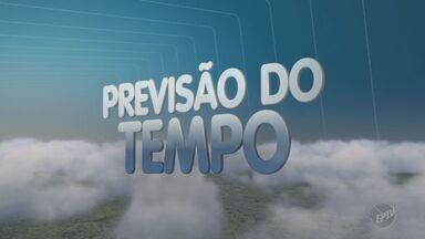 Previsão é de chuva para o período da tarde em cidades da região de Campinas - Em Campinas a máxima desta terça-feira (22) é de 28°C. Em Águas de Lindóia a máxima será de 24ºC e a mínima de 16°C.