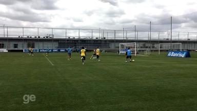 Grêmio faz último treino antes de final da Copa do Brasil - Assista ao vídeo.