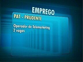 Veja as vagas de emprego para o Oeste Paulista - Mais informações podem ser obtidas no PAT.