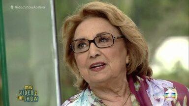 Eva Wilma revisita a carreira no quadro 'Meu Vídeo É Um Show' - Atriz relembra diversos trabalhos na TV Globo e também propagandas que estrelou nos anos 60