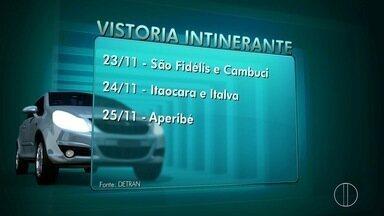Detran-RJ leva vistoria itinerante a cidades do interior a partir de quarta - Itaocara, São Fidélis, Iguaba e outras sete cidades recebem o serviço.