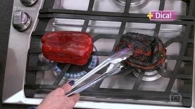 Aprenda a fazer pimentão no fogo - Ana Maria dá a dica para cozinhar e tirar a pele do pimentão de um jeito prático