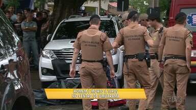 Homem é morto a tiros no centro de Umuarama - Segundo delegado vítima é ligada com contrabando