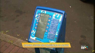 Parquímetros de Cascavel não estão funcionando - Por enquanto, fiscalização está suspensa.