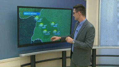 Terça-feira ainda deve ser de chuva na região oeste - Mas na quinta o tempo deve firmar.