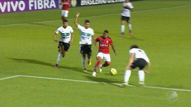 Marinho abre o placar em jogo do Vitória contra o Coritiba - Veja o gol e alguns lances da partida, que está acontecendo neste momento.