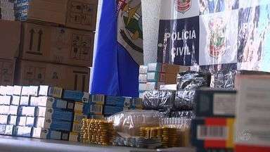 Polícia realiza a maior apreensão de medicamentos do Ceará - Foram apreendidos 140 mil comprimidos; maioria é de venda controlada