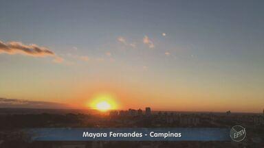 Vídeo mostra o belo pôr do Sol em Campinas na segunda-feira - Confira as imagens da Mayara Fernandes.