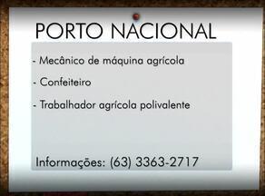 Veja as vagas de emprego para Palmas, Paraíso do Tocantins e Porto Nacional - Veja as vagas de emprego para Palmas, Paraíso do Tocantins e Porto Nacional