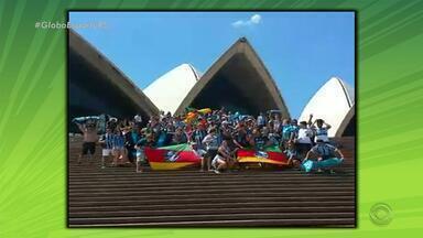 Na Rede: gremistas comemoram penta da Copa do Brasil em Sidney - Tricolores festejaram título em frente à Ópera de Sidney, na Austrália.