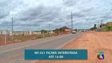 MT-251 é interditada para obras de reparos em ponte - MT-251 é interditada para obras de reparos em ponte.