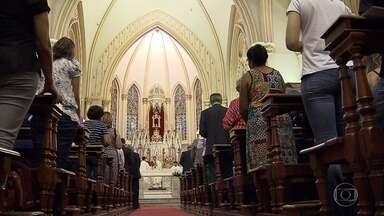 Missa de ação de graças é celebrada para comemorar os 119 anos de Belo Horizonte - Cerimônia foi na Igreja da Boa Viagem, na Região Centro-Sul da capital mineira.