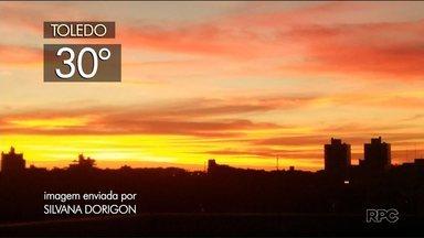 Tempo abafado nesta terça-feira (13), em todo Paraná - Temperaturas ficam elevadas e pode cair pancada de chuva isolada no fim da tarde.