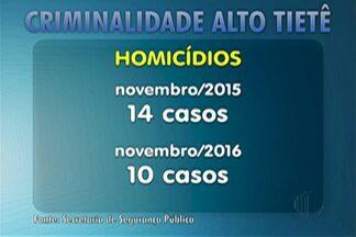 Cai número de homicídios no Alto Tietê, diz SSP - Em novembro do ano passado foram 14. No mesmo período deste ano foram 10. Dados foram divulgados nesta sexta-feira (23).