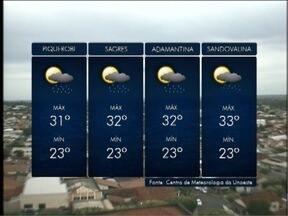 Tempo segue instável no Oeste Paulista - Veja as previsões para algumas cidades da região.