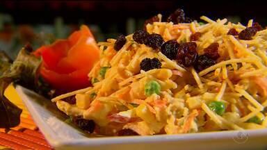 Saiba como fazer um salpicão sem a uva passa - O salpicão é um prato bastante consumido nas festas de fim de ano.