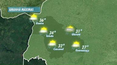 Dia de Natal com sol entre nuvens na região Oeste - À tarde a instabilidade aumenta e há possibilidade de chuva mais forte