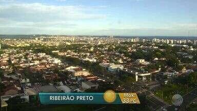 Previsão de calor e pancadas de chuva na região de Ribeirão Preto - Temperatura máxima nesta segunda-feira (26) deve ser de 33ºC.