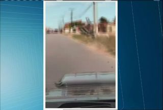 Motorista flagra acidente de moto no Ceará - Motociclista estava trafegando em alta velocidade.