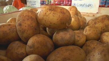 Alta do tomate, cebola e batata deixa cesta básica mais cara no interior do AM - Veja os motivos da alta nos preços.
