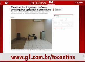 Confira os destaques do G1 Tocantins nesta sexta-feira (6) - Confira os destaques do G1 Tocantins nesta sexta-feira (6)