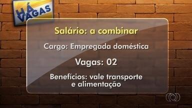 Confira vagas de trabalho em Goiânia - Entre as oportunidades há vagas para empregada doméstica.