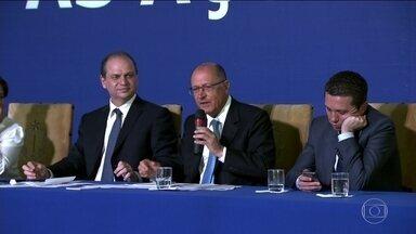 Alckmin manda suspender o reajuste nas tarifas de integração de ônibus, metrô e CPTM - A decisão foi tomada depois que um oficial de justiça entregou a notificação ao governador, com a decisão liminar suspendendo o aumento.
