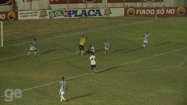 Diogo Campos cai na área e Botafogo-PB pede pênalti - Confira o lance do jogo entre Atlético e Botafogo, pela segunda rodada do Paraibano