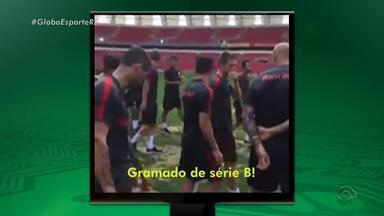 Na Rede: em vídeo na web, Aylon diz que gramado do Beira-Rio é de 'Série B' - Assista ao vídeo.