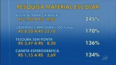 Procon Fortaleza encontra diferença de 245% no preço do material escolar - Escolas não podem exigir marcas nem condicionar a compra a fornecedor.