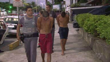 Grupo é detido após roubar mulheres na travessia de barcas em Guarujá - Um deles utilizava um veículo registrado no aplicativo Uber.