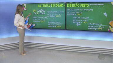 Pesquisa aponta diferença de até 600% no preço de produtos escolares em Ribeirão - Avaliações foram feitas com produtos das mesmas marcas em várias papelarias.