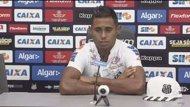Santos começa a apresentação os reforços para a temporada - O primeiro jogador a ser apresentado foi o atacante Kayke, no CT Rei Pelé.