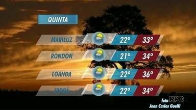 Semana segue com possibilidades de pancadas de chuva; confira a previsão - Termômetros ultrapassam os 36 graus em Loanda