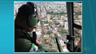 Homem tem carro roubado e usa rastreamento do celular para guiar a Polícia nas buscas - Operação foi feita também pelo ar, com apoio de um helicóptero.