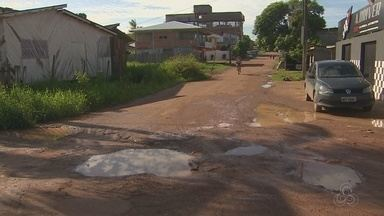 Após chuva, aumenta número de buracos nas ruas de Macapá - Alguns foram tapados de forma provisória.