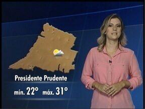Confira como fica o tempo neste final de semana - Saiba qual a previsão do tempo para o Oeste Paulista.