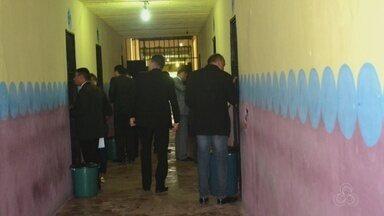 OAB Amapá realiza visita no pavilhão masculino do Iapen - Comissão diz que fará relatório avaliando vistoria na penitenciária. Inspeção foi realizada nesta sexta-feira (20) em presídio de Macapá.