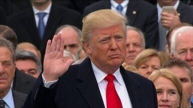 """Donald Trump assume a Casa Branca nesta sexta-feira (20) - Não era nem """"America first"""", a América primeiro. Era """"América only"""", apenas a América. A cobertura é da inauguração da era das grandes dúvidas sobre a política americana e internacional"""