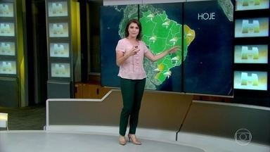 Confira a previsão do tempo para esta sexta-feira (3) - A previsão é de chuva em todo o estado de São Paulo, na região norte, região centro-oeste e em grande parte da região sul. Previsão de pancada de chuva no Maranhão, Piauí, Bahia. Tempo firme em Alagoas, Rio Grande do Norte e Ceará.