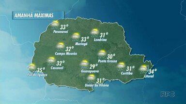 Previsão de tempo instável neste domingo para o norte do Paraná - E, à tarde, esquenta: a temperatura pode ultrapassar os 30 graus em Londrina.