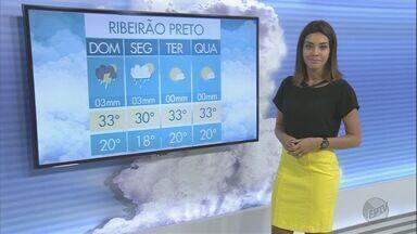 Confira a previsão do tempo para este domingo (5) em Ribeirão Preto e região - Temperaturas devem permanecer altas até o fim de semana acabar.