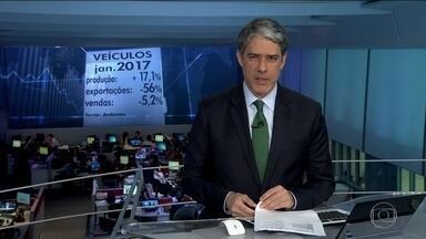 Produção de veículos sobe 17% em janeiro contra o mesmo mês de 2016 - É consequência principalmente das exportações, que avançaram mais de 50% sobre janeiro de 2016. As vendas nas concessionárias brasileiras ainda estão em queda.