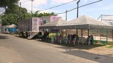 Carretas da saúde voltam a atender pacientes em Manaus - Unidades móveis ficam em média uma semana em cada bairro.
